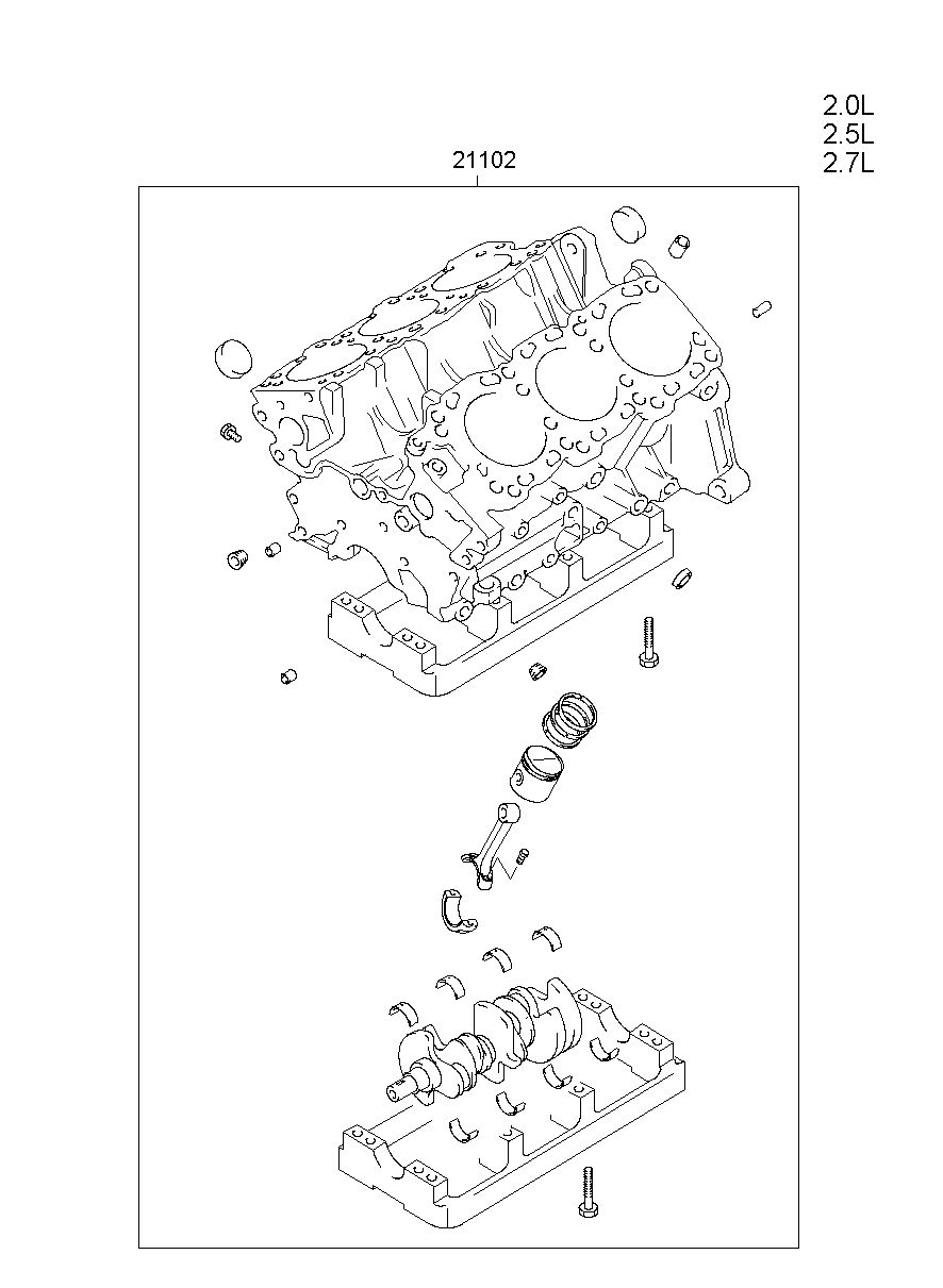 hight resolution of engine assy short model grandeur xg manufacture hyundai hs your price 2596 45
