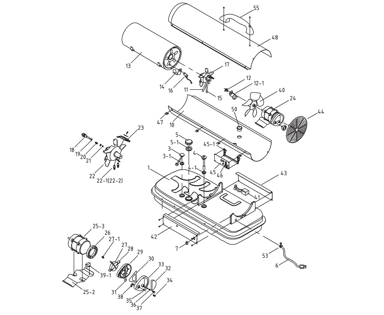 Draper 32287 45,000btu (13kw) Diesel Space Heater Spare