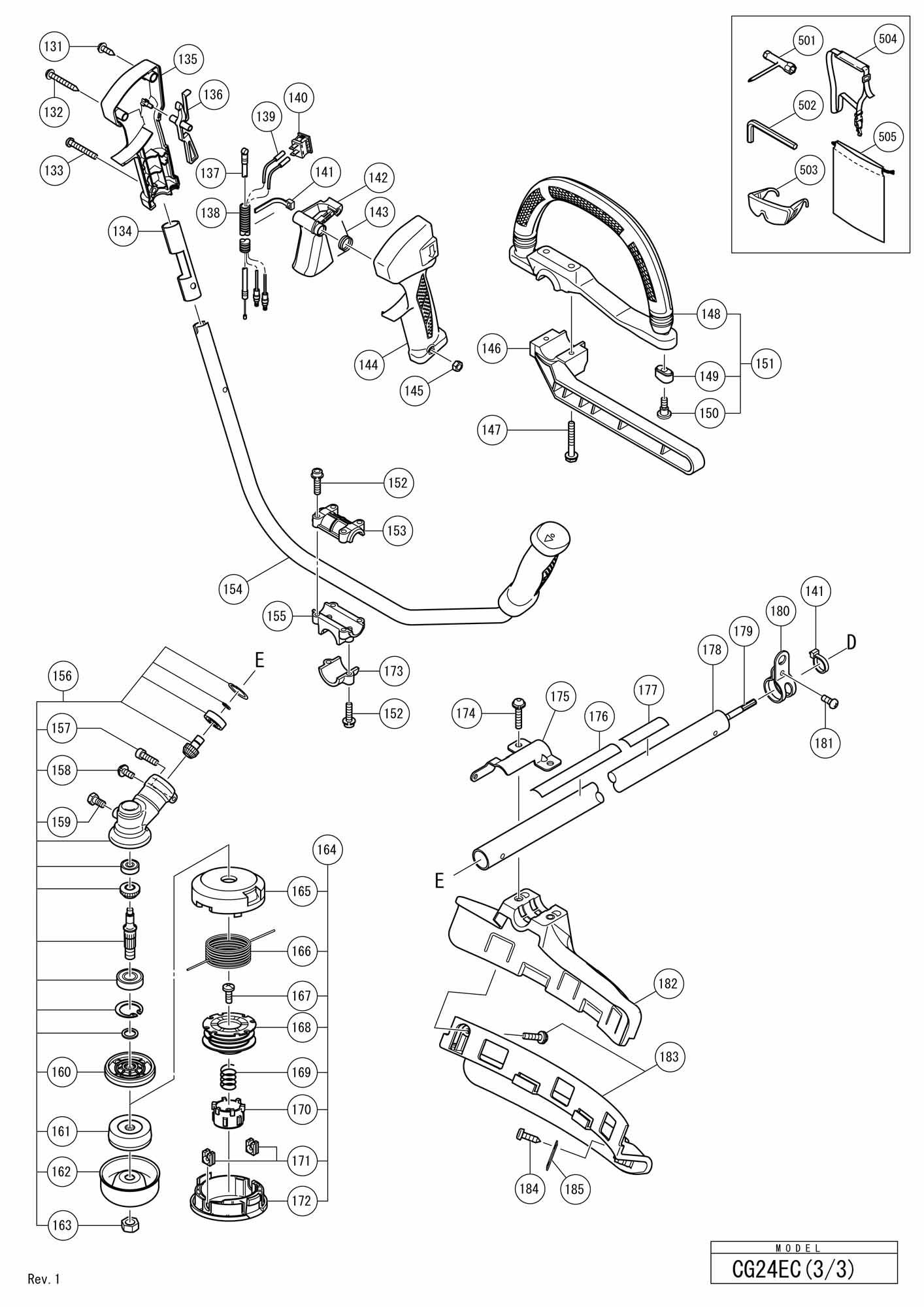Hitachi Engine Grass Trimmer/brush Cutter Cg 24ec SPARE