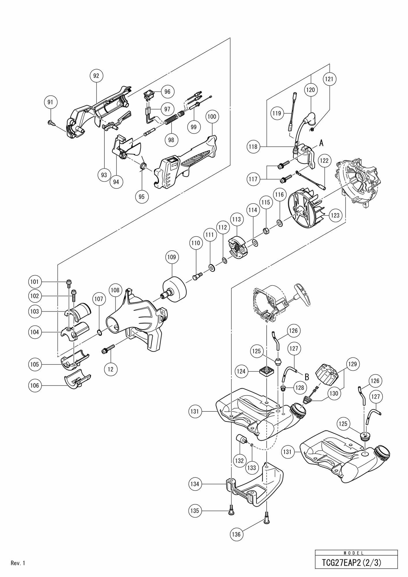 Hitachi Engine Grass Trimmer Tcg 27eap2 SPARE_TCG27EAP2
