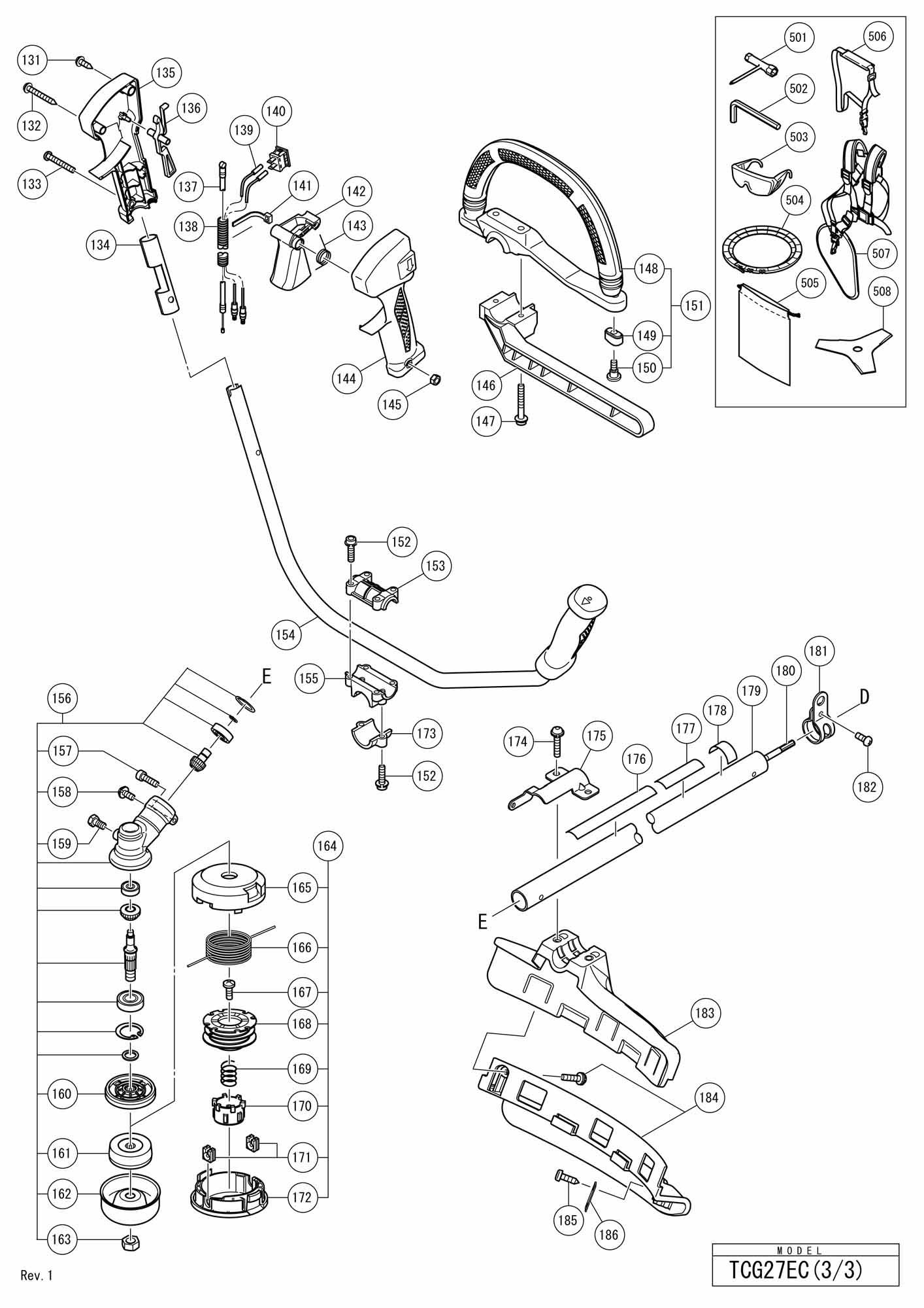 Hitachi Engine Grass Trimmer/brush Cutter Tcg 27ec SPARE
