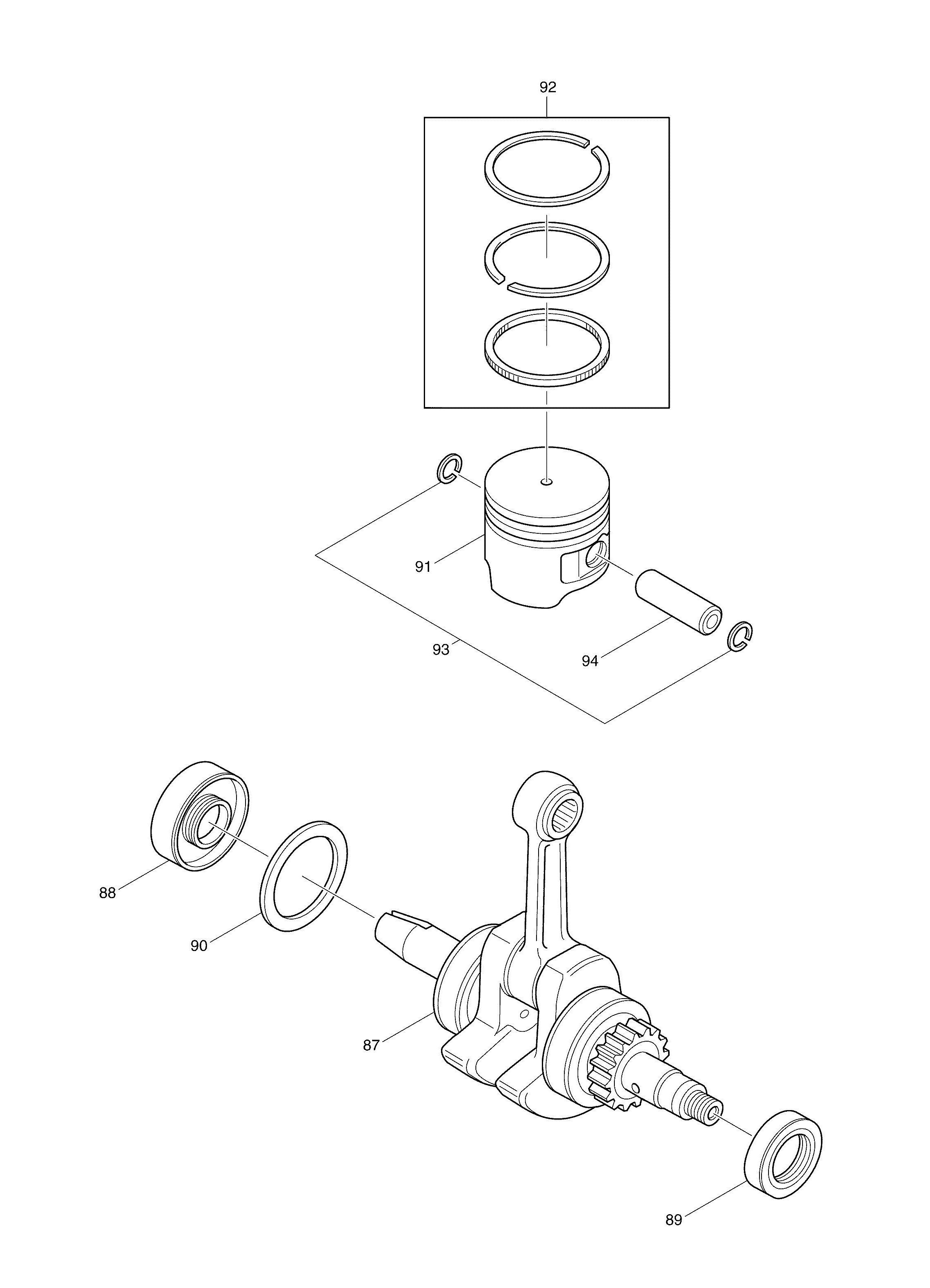 Makita Bcx2500 4 Stroke Brushcutter Spare Parts SPARE