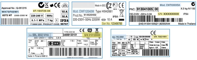 Trova il nome del modello e il codice seriale del tuo frigorifero e del tuo freezer