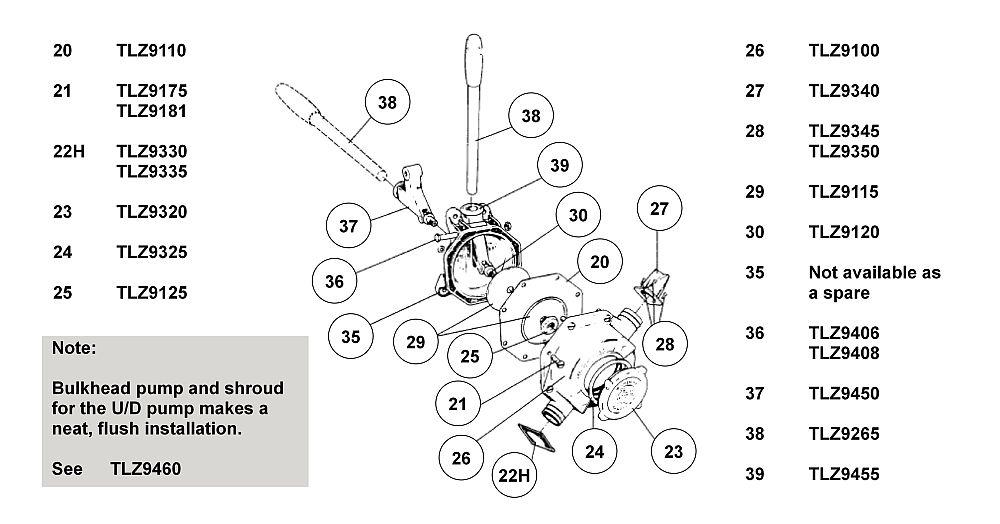 Hand Pump Assembly T/A & U/D