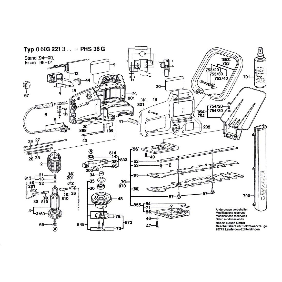 Buy A Bosch PHS 36 G Guide 2601038032 Spare Part Tye: 0