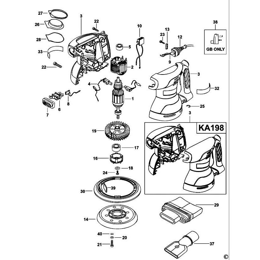 Buy A Black & Decker KA198 PLATE KIT 1004522-00 Spare Part