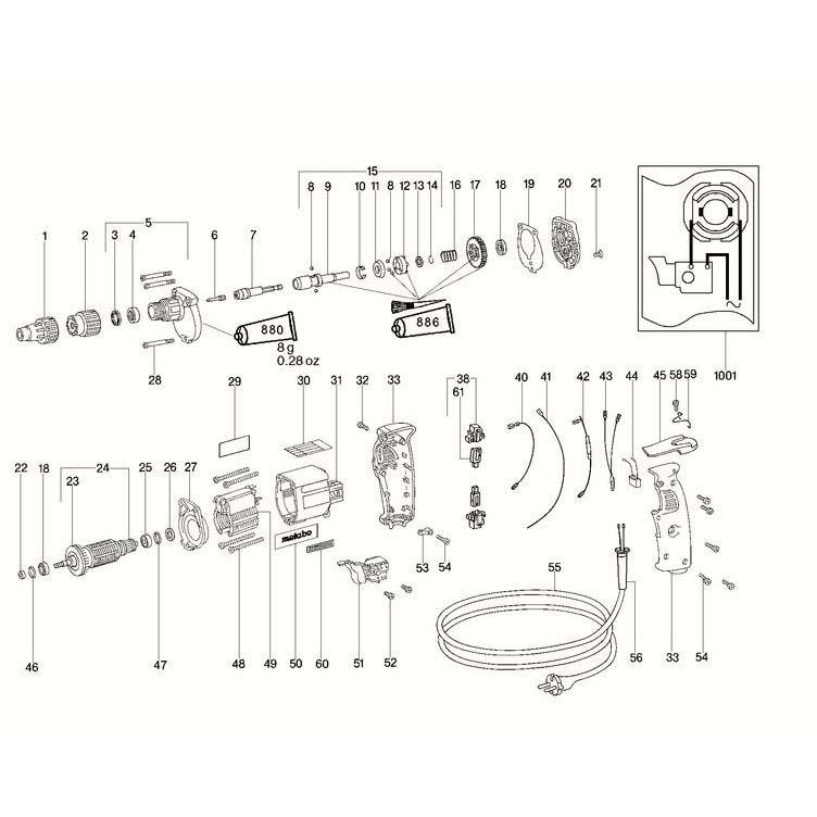 Buy A Metabo S E 5025 R+L STOP GUIDE CPL. 316021880 Spare