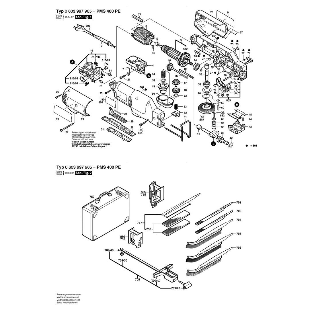Buy A Bosch PMS 400 PE PARALLEL-GUIDE 2607001182 Spare Part