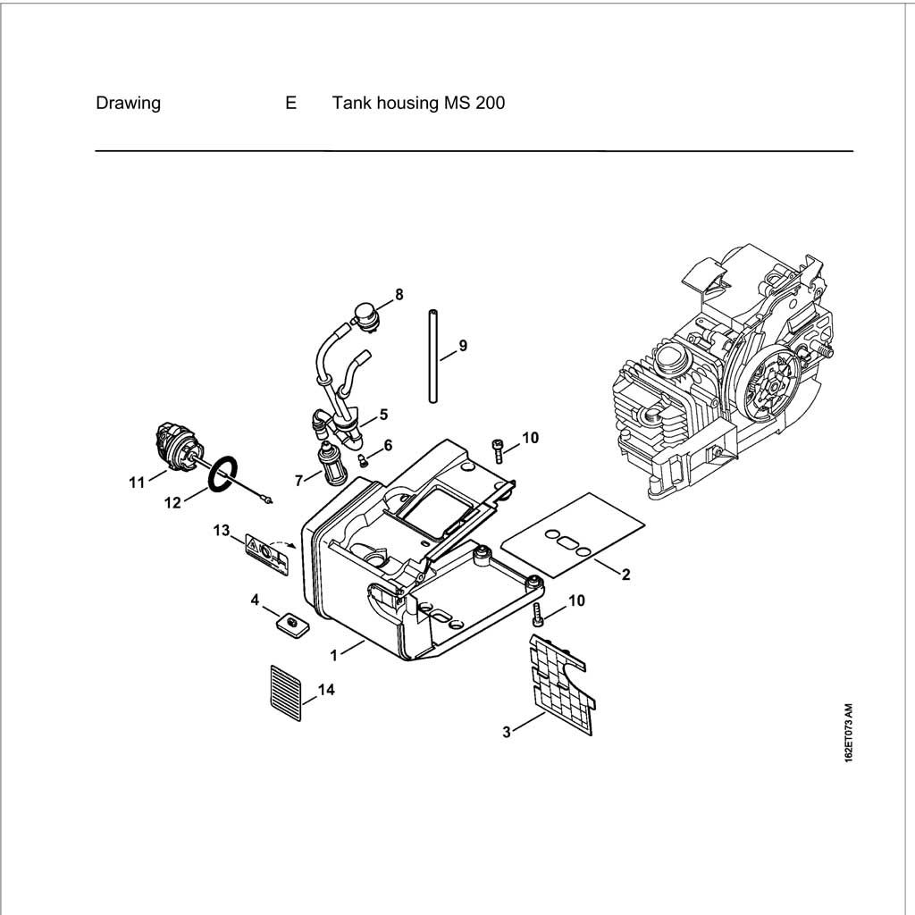 Buy A Stihl MS200T Spare part or Replacement part for Your