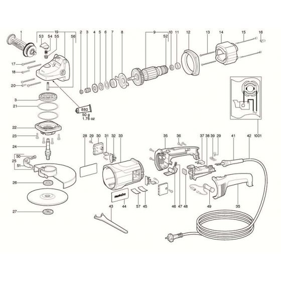 Buy A Metabo WX 25-230 GUIDE BUSH 341003970 Spare Part