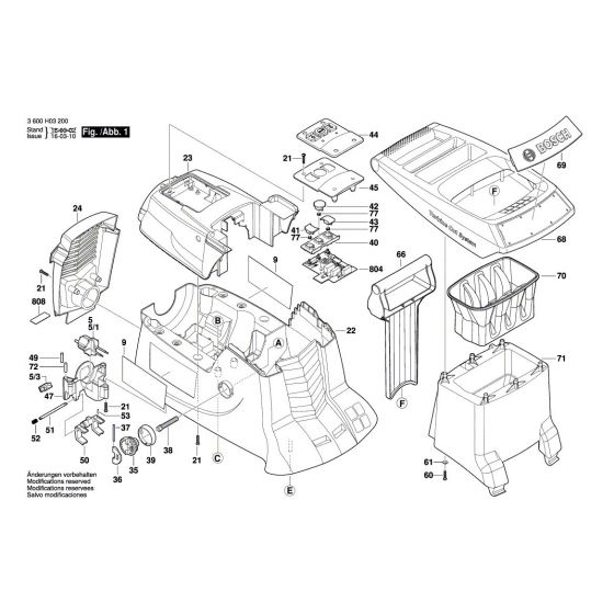 Buy A Bosch AXT 23 TC Guide-Plate 2609004916 Spare Part