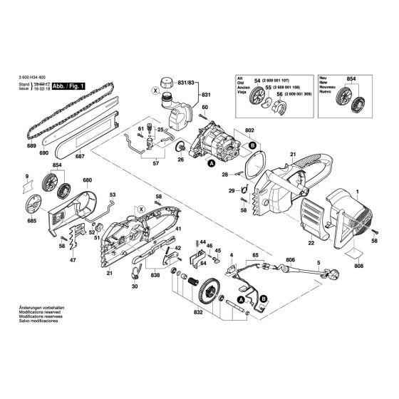 Buy A Bosch AKE 35 S Guide Rail 350 MM 1602317006 Spare