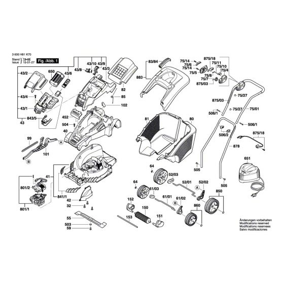 Buy A Bosch ROTAK 43 LI Spare part or Replacement part for