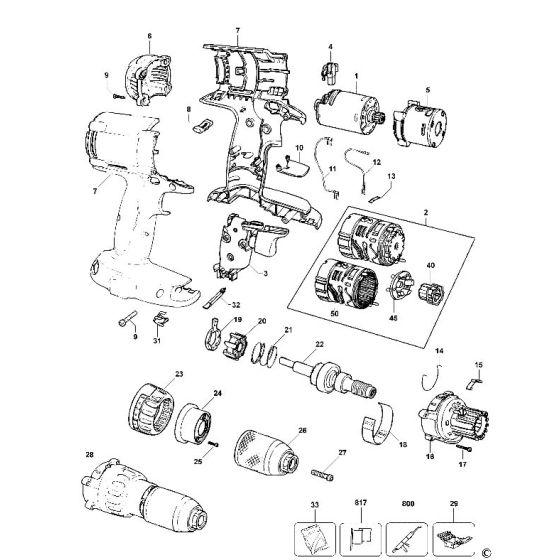 Buy A Dewalt DW984 SPRING 394546-00 Spare Part Type 10