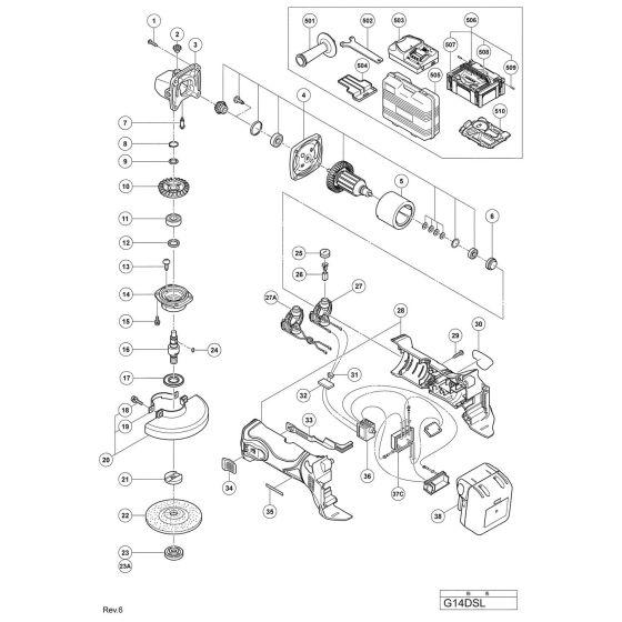 Buy A Hitachi G14DSL BRUSH CAP 328200 Spare Part