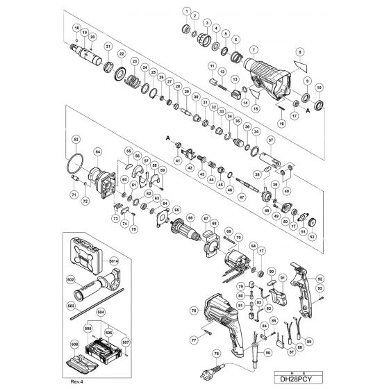 Buy A Hitachi DH28PCY Spare part or Replacement part for