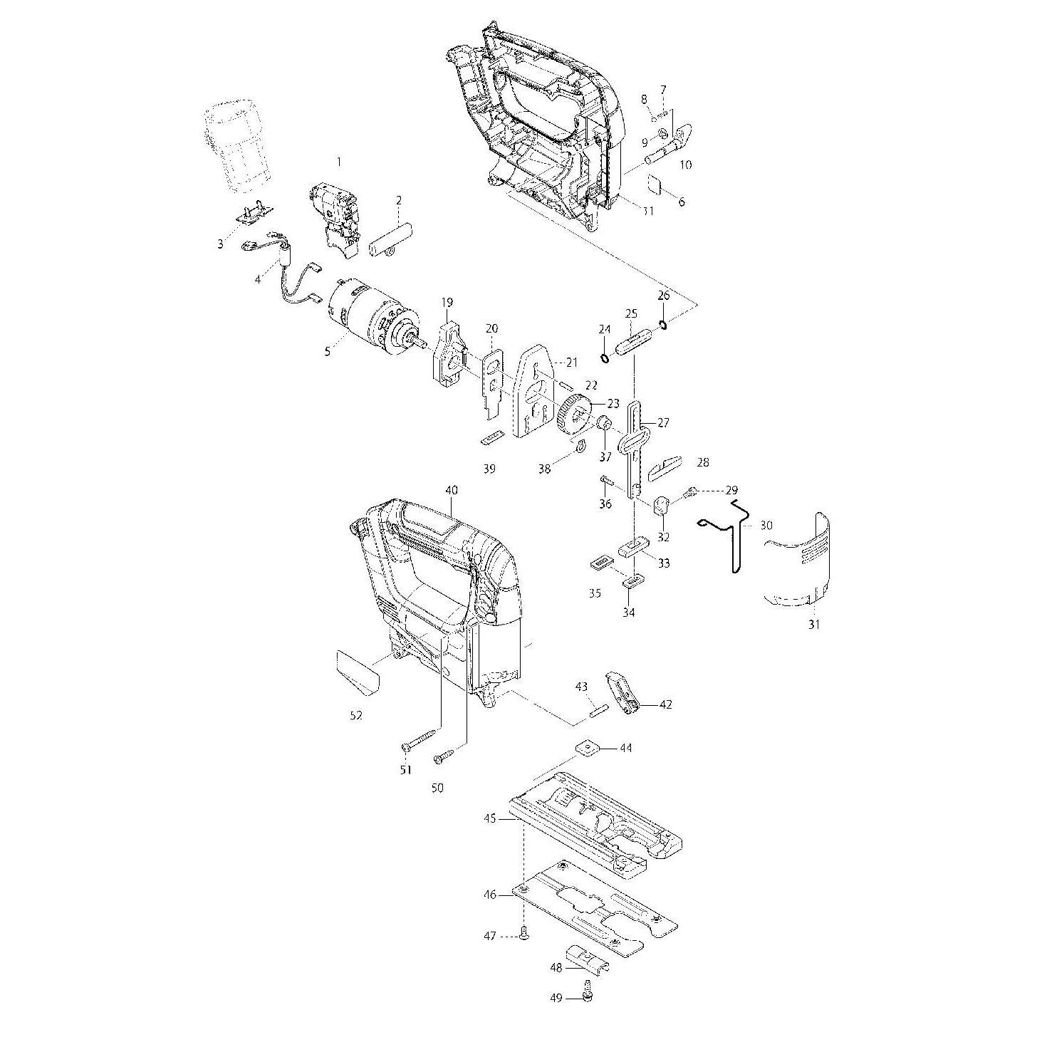 Buy A Makita JV100D GUIDE RULE SET 192732-4 Spare Part