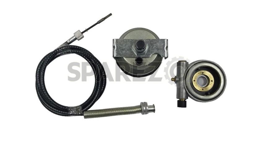 Replica Smiths Speedometer White 120 MPH + 54