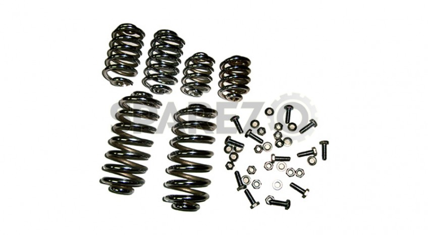 Royal Enfield Old Model Chrome Front And Rear Seat Springs