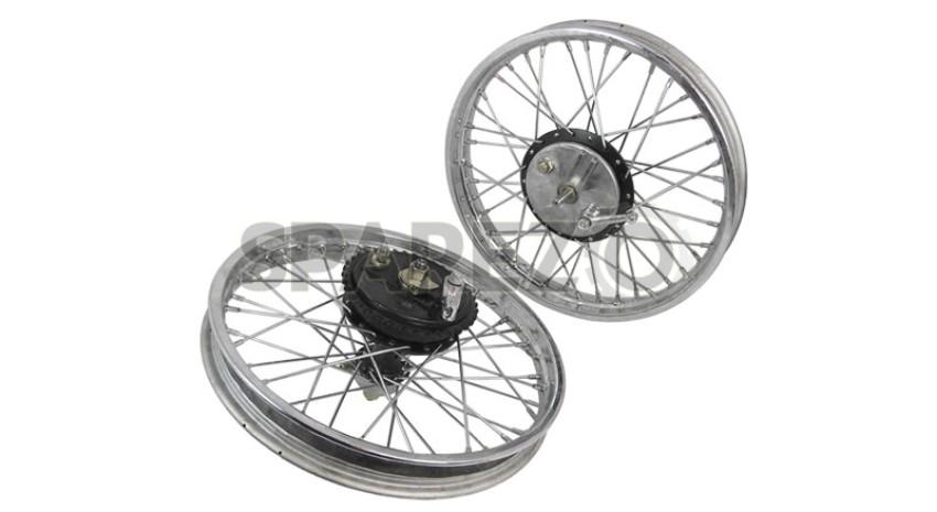 Vintage Front Rear Half Width Hub Wheel Rim Assembly For