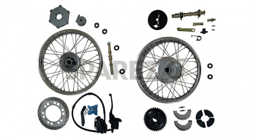 Royal Enfield Complete Front & Rear Wheel + Front Wheel
