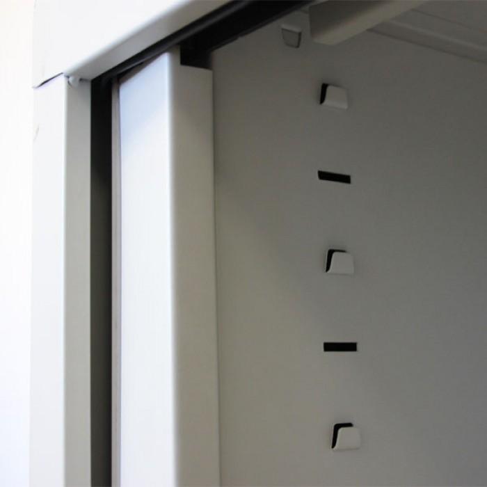 Armoire Rideaux Pour Bureau H160 Cm Meuble Rideaux