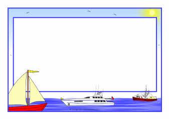 At sea A4 page borders SB4759  SparkleBox