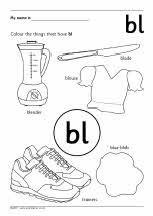 Initial blends picture colouring worksheets (SB6022