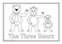 Goldilocks And The Three Bears Mask Templates Sketch