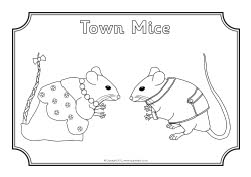 Town Mouse Country Mouse colouring sheets (SB8724
