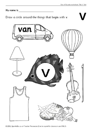 Letter V Phonics Activities and Printable Teaching