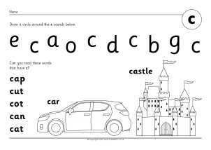 Letter C Phonics Activities and Printable Teaching