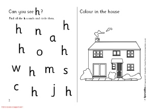 Letter H Phonics Activities and Printable Teaching