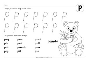 Letter P Phonics Activities and Printable Teaching