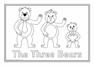 Coloring Pictures Of Goldilocks And The Three Bears