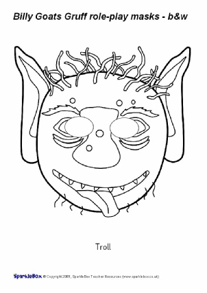 Troll face mask template