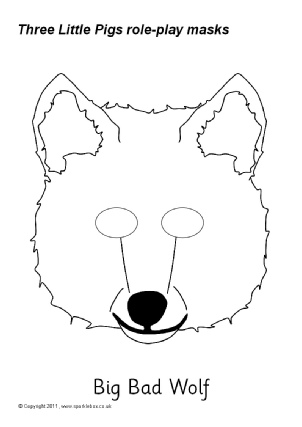 3 little pig mask template