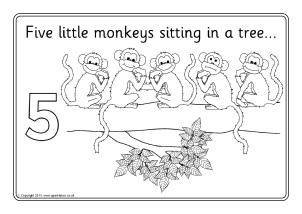 Five Little Monkeys in a Flying Saucer Nursery Rhyme
