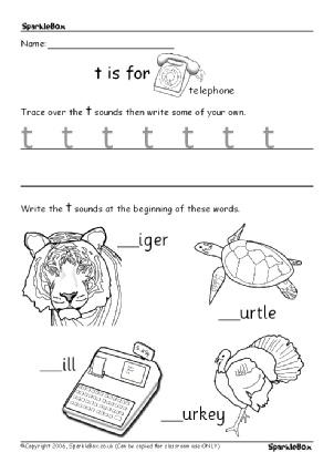 Printables of Handwriting Worksheet Sparklebox