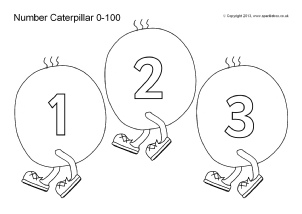 Printable Number Tracks for Early Years and Key Stage One