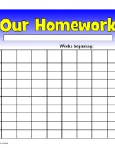 View preview editable week homework wall chart also records and record keeping sparklebox rh