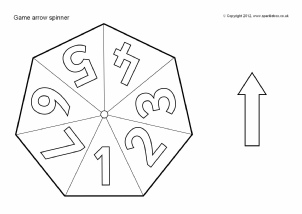 FREE Printable Cut-Out Templates: Fans, Dice, Games