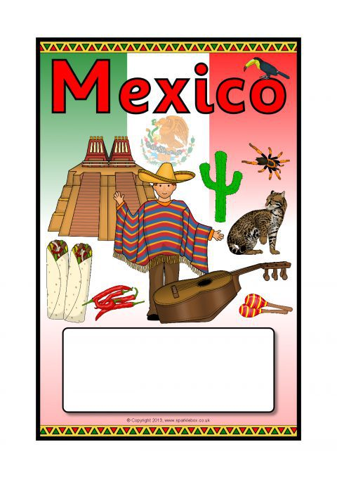 Mexico Editable Topic Book Covers Sb9575 Sparklebox