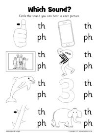 Which Sound? Worksheet  th and ph (SB12237) - SparkleBox