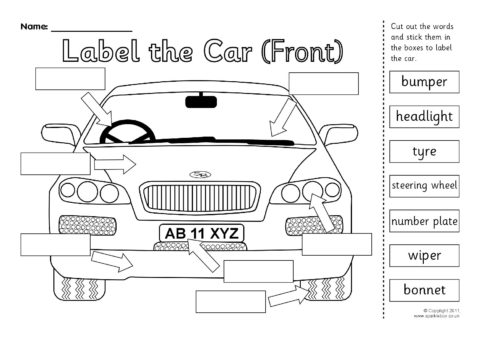Labeled Car Diagram Unlabeled Car Diagram Wiring Diagram