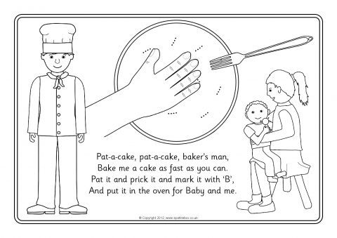 Pat A Cake Coloring Page Pictures to Pin on Pinterest