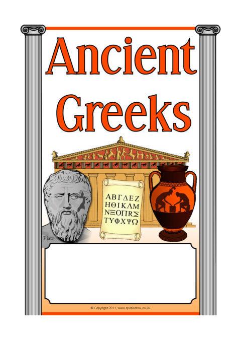 Ancient GreeksGreece Editable Topic Book Covers SB6969  SparkleBox