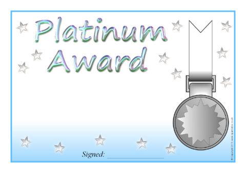 Editable Platinum Gold Silver And Bronze Certificate Templates SB4244 SparkleBox