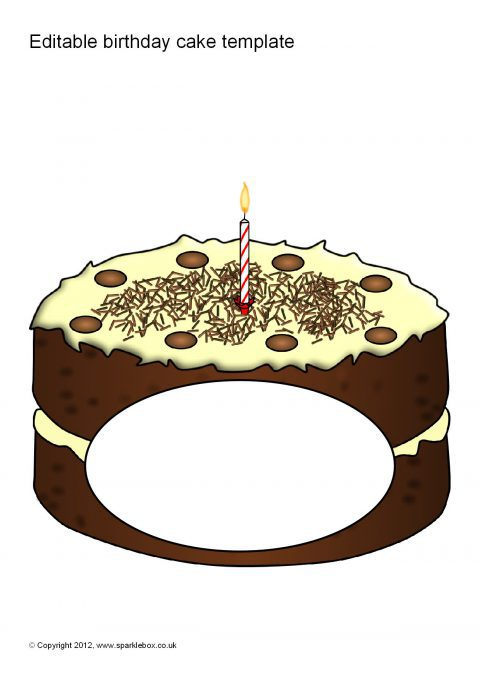 Editable Birthday Cake Templates Sb7612 Sparklebox