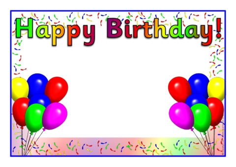 editable happy birthday posters